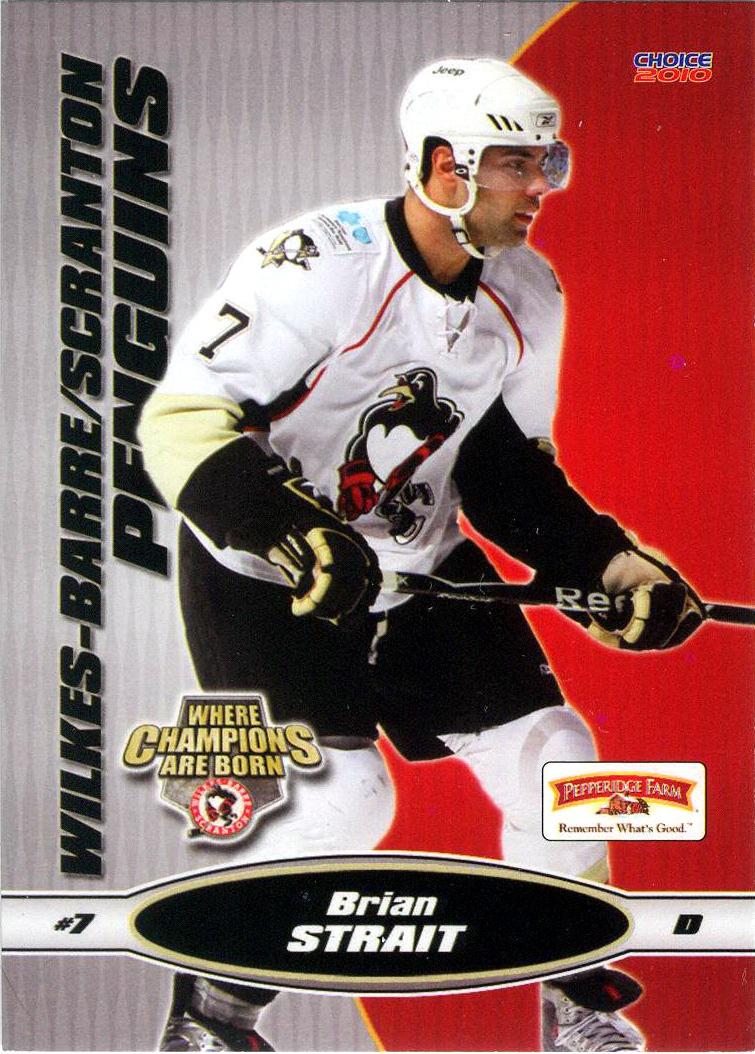Brian Strait Player S Cards Since 2009 2012 Penguins