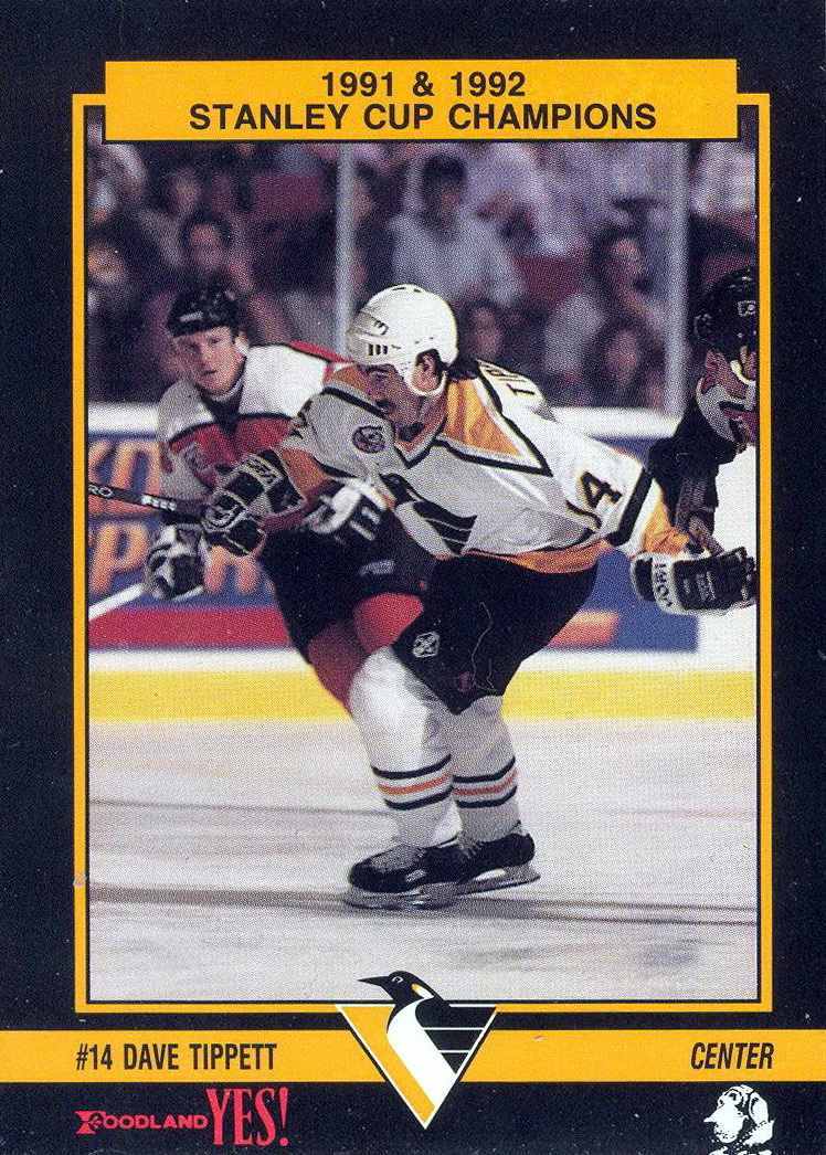 Dave Tippett - Player's cards since 1992 - 1994   penguins-hockey-cards.com