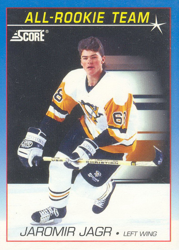 Larry Murphy additionally Sergei Zubov as well Mario Lemieux as well S L in addition Upper Deck Series Hockey Shooting Stars Center Stamkos. on jaromir jagr hockey cards