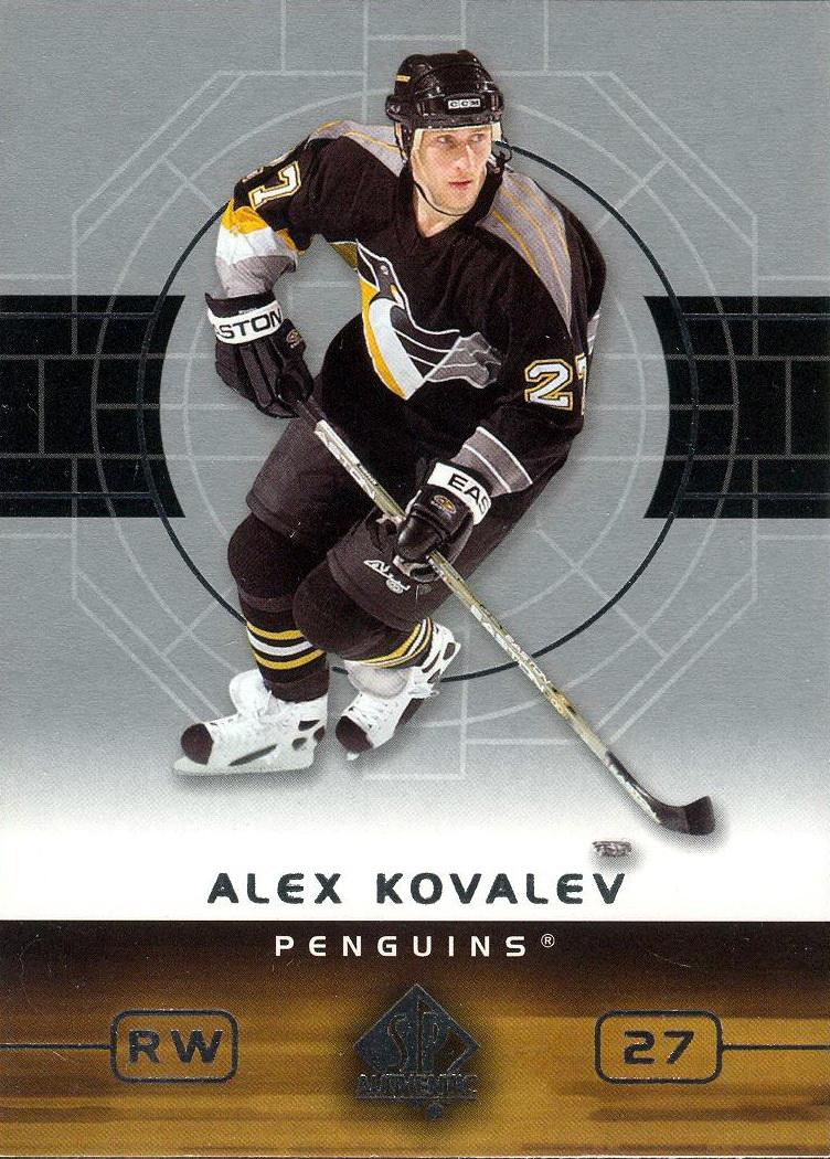 2001 #18 Martin Straka Alex Kovalev Jean-Sebastien Aubin Rich Parent Hockey Card Verzamelingen
